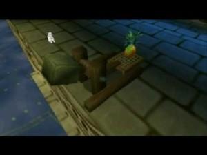 Lancement d'ananas à Cruella pendant le niveau de boss de Big Ben. J'espère que SpongeBob a une assurance locataire.